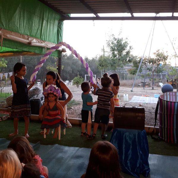 טקס יום הולדת מופע בלונים תיאטרון הצפרדע